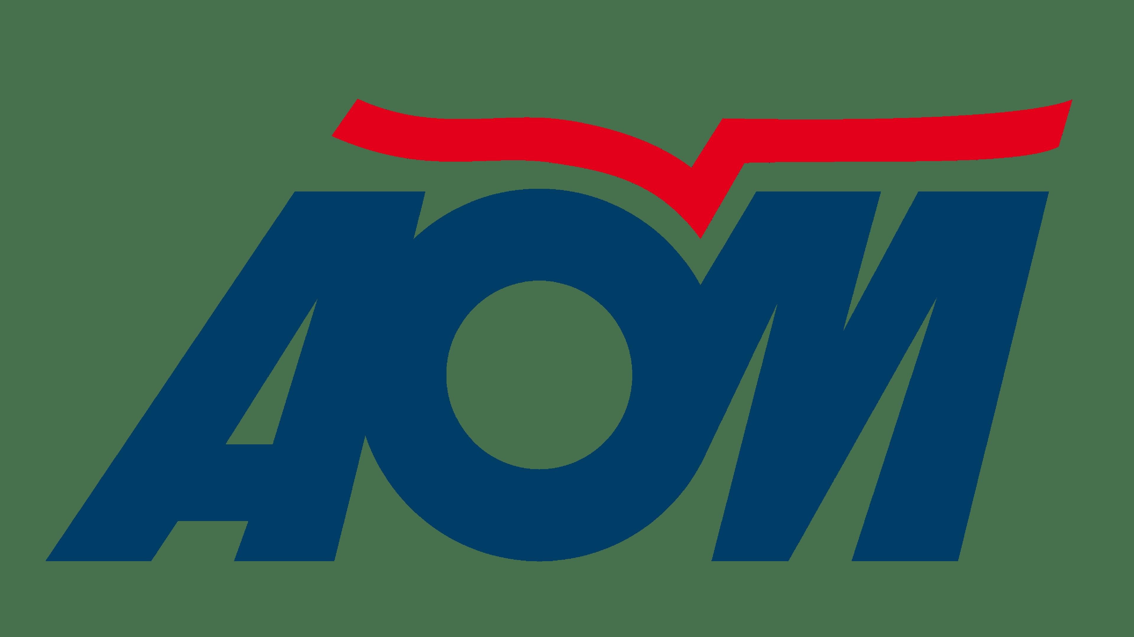 AOM French Airlines Logo Logo