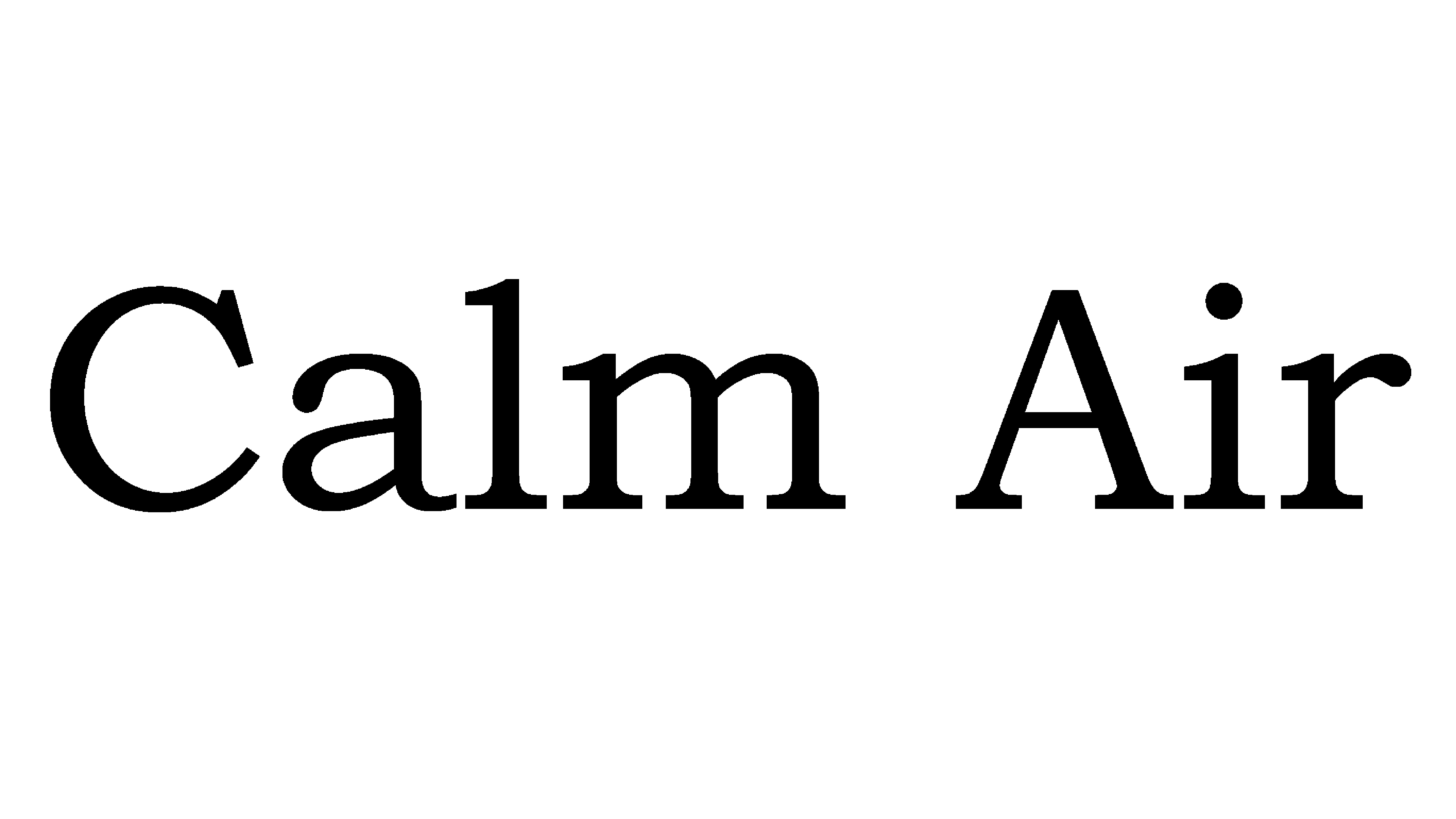 Calm Air Logo Logo