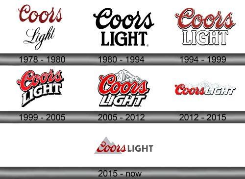 Coors Light Logo history