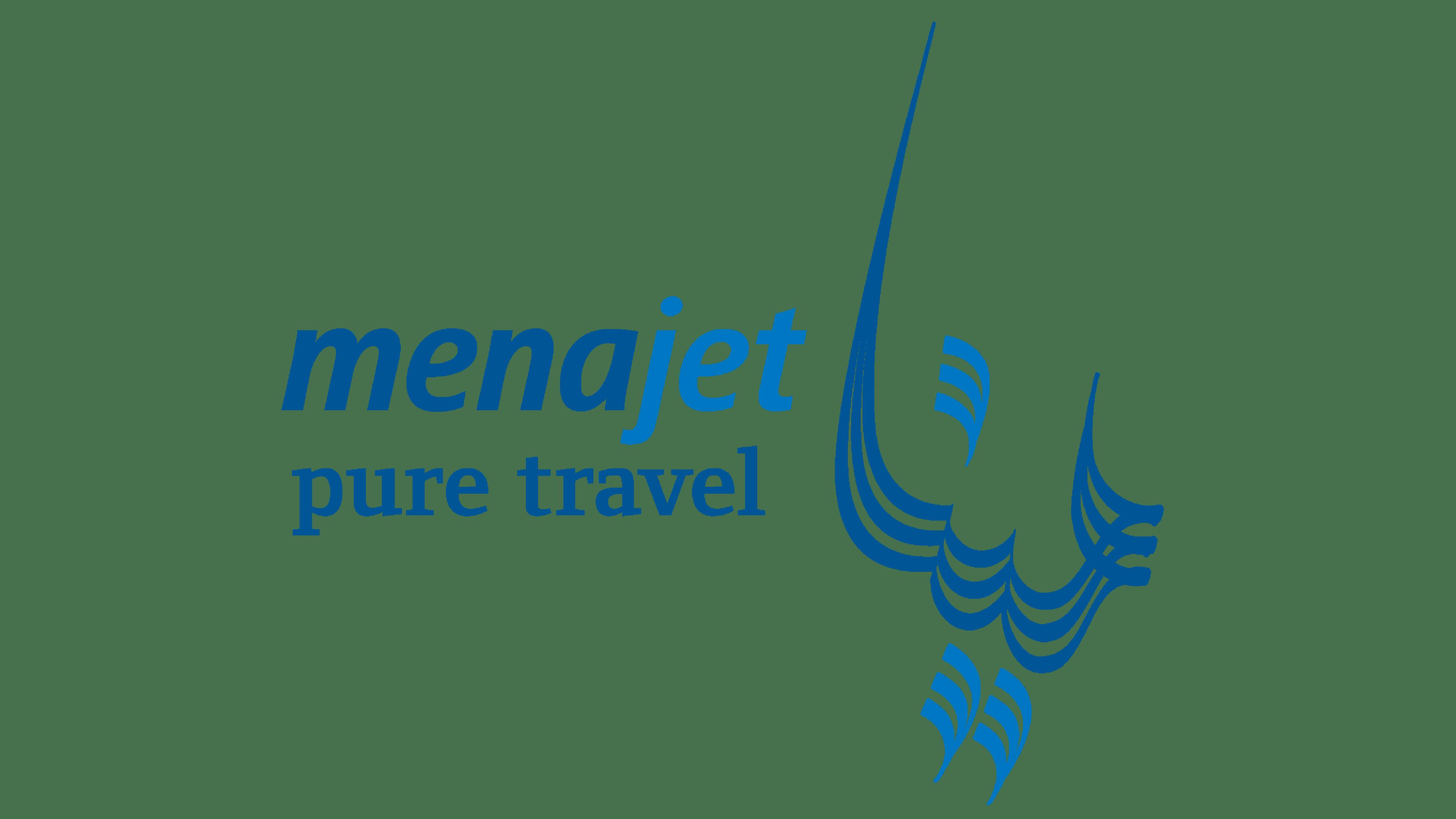 MenaJet Logo Logo