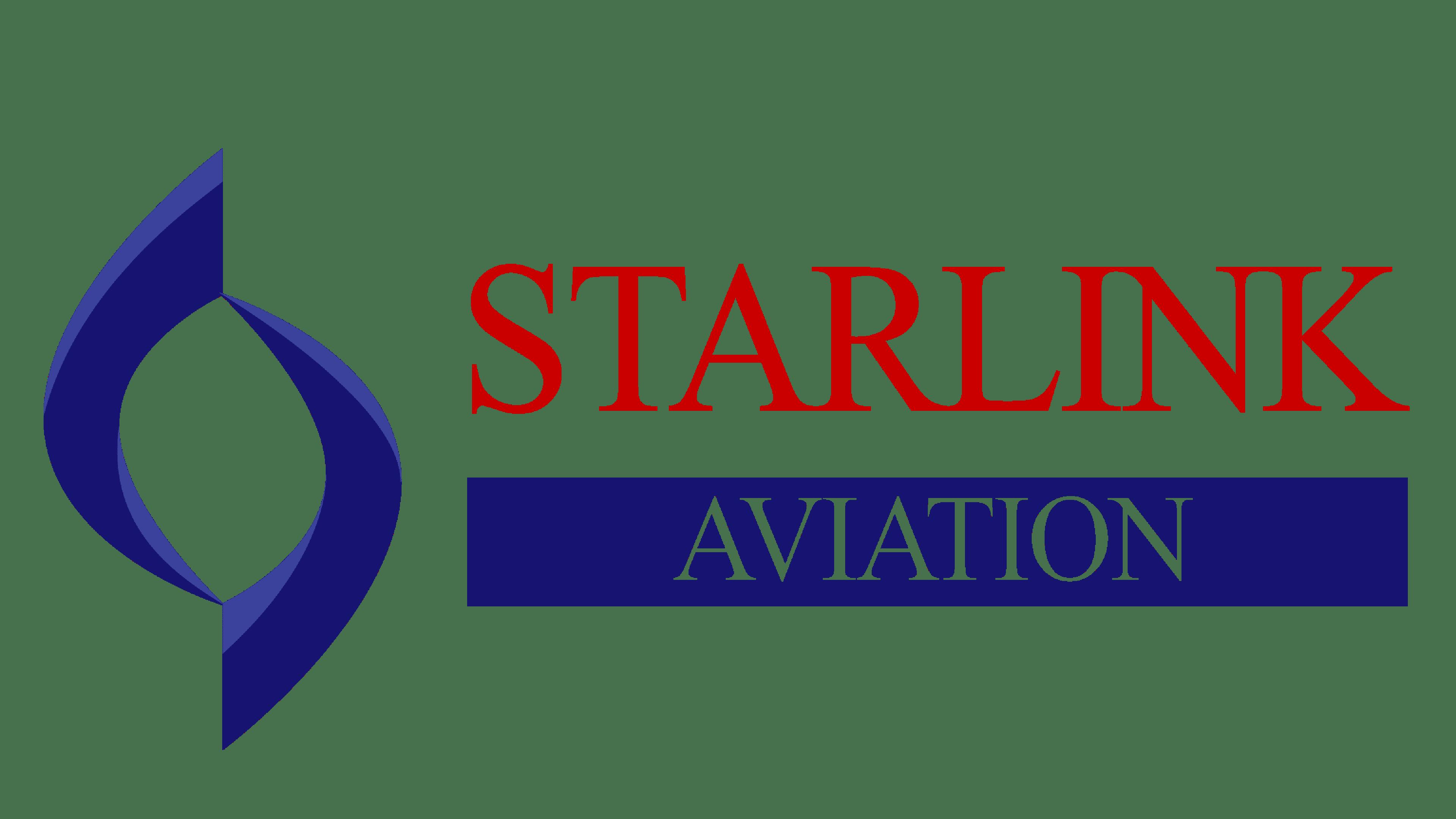 Starlink Aviation Logo Logo