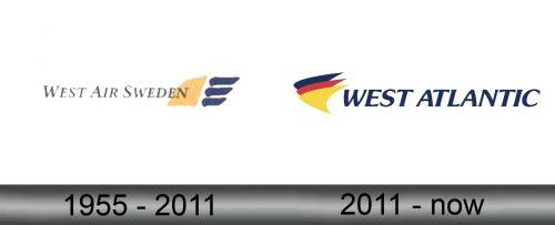 West Air Sweden Logo history