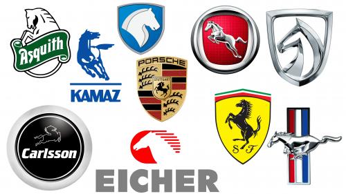 Car With Horse Logo